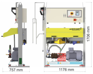 Automatic washing system for mixers 2