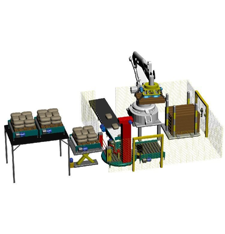 Robot palletizer equipped with vacuum gripper - ARCOMET7